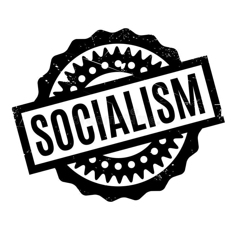 Tampon en caoutchouc de socialisme illustration stock