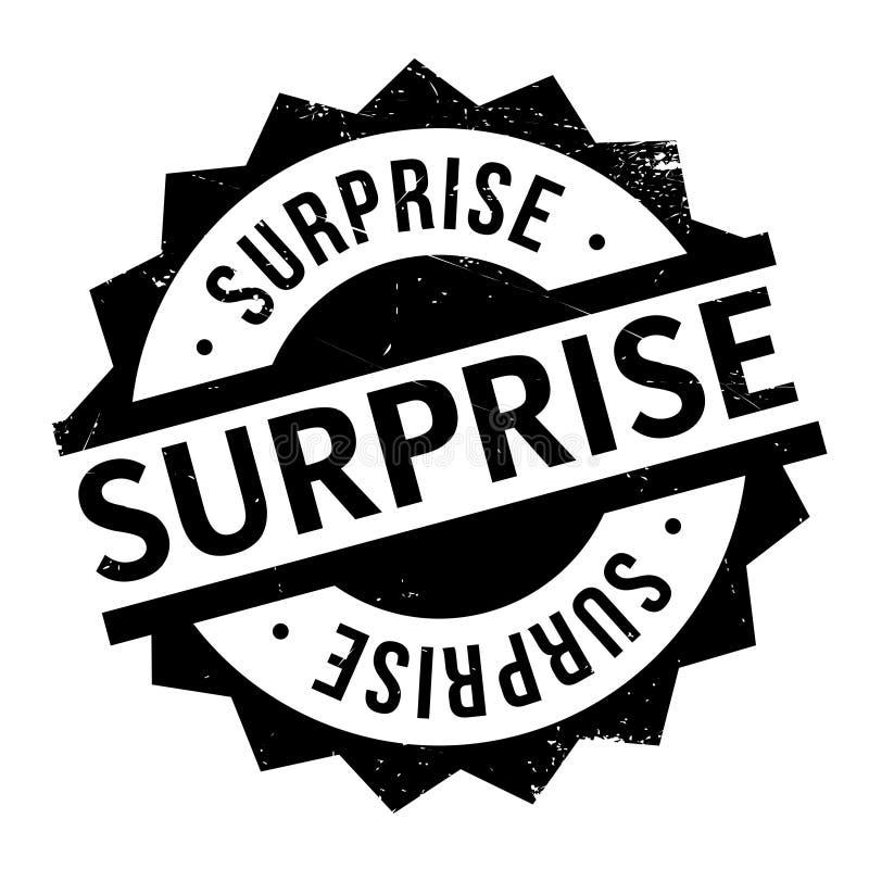 Tampon en caoutchouc de surprise illustration de vecteur
