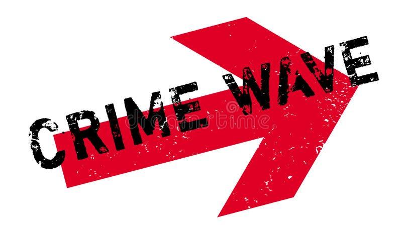 Tampon en caoutchouc de vague de criminalité illustration de vecteur