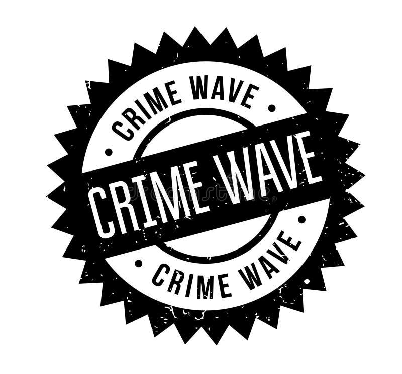 Tampon en caoutchouc de vague de criminalité illustration stock