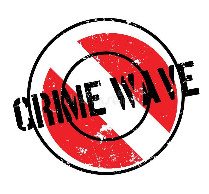 Tampon en caoutchouc de vague de criminalité illustration libre de droits