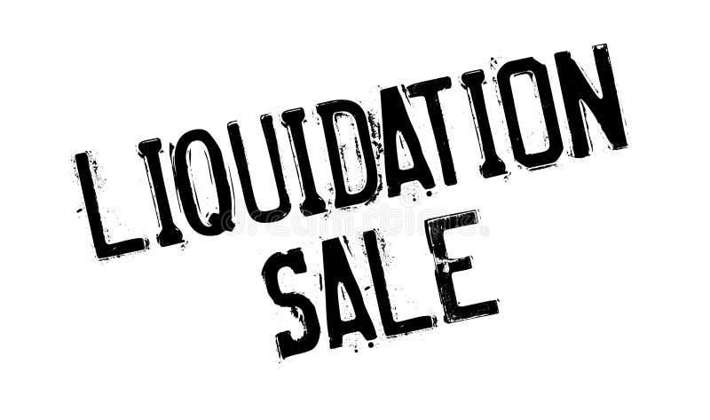 Tampon en caoutchouc de vente de liquidation illustration libre de droits