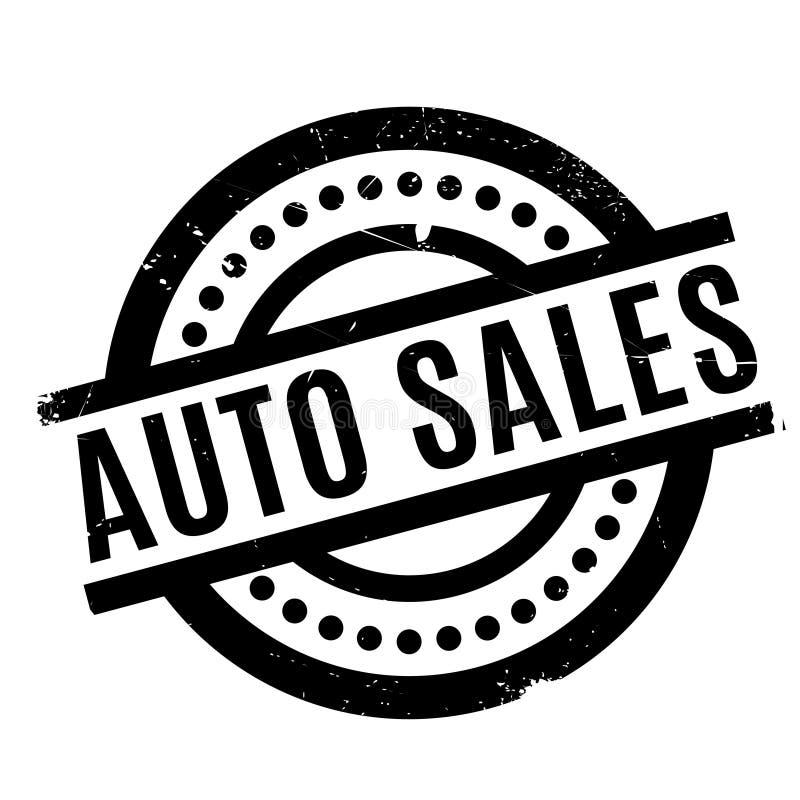 Tampon en caoutchouc de ventes automatiques illustration de vecteur