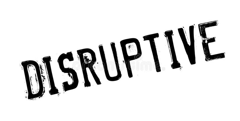 Tampon en caoutchouc disruptif illustration stock