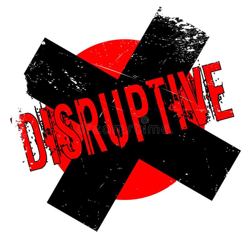 Tampon en caoutchouc disruptif illustration libre de droits