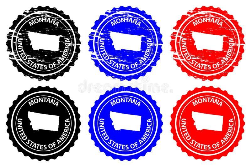 Tampon en caoutchouc du Montana illustration libre de droits