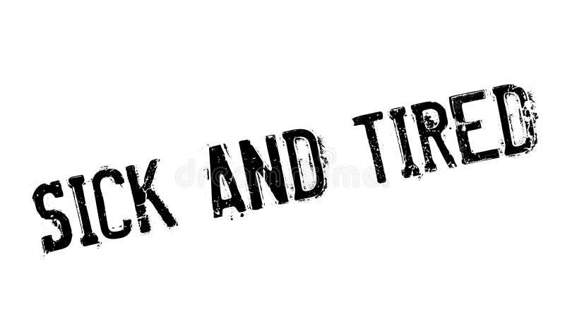 Tampon en caoutchouc en difficulté et fatigué illustration de vecteur