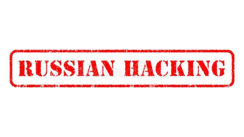 Tampon en caoutchouc ENTAILLANT RUSSE au-dessus d'un fond blanc illustration libre de droits