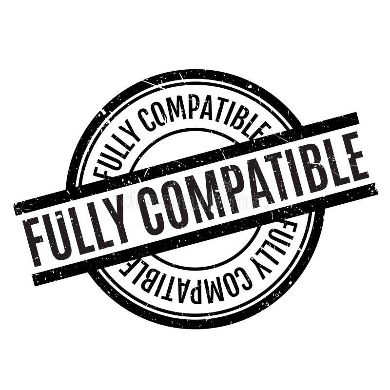 Tampon en caoutchouc entièrement compatible illustration de vecteur