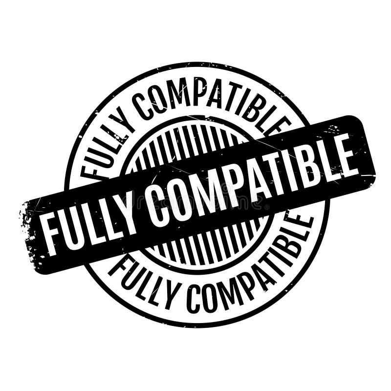 Tampon en caoutchouc entièrement compatible illustration stock