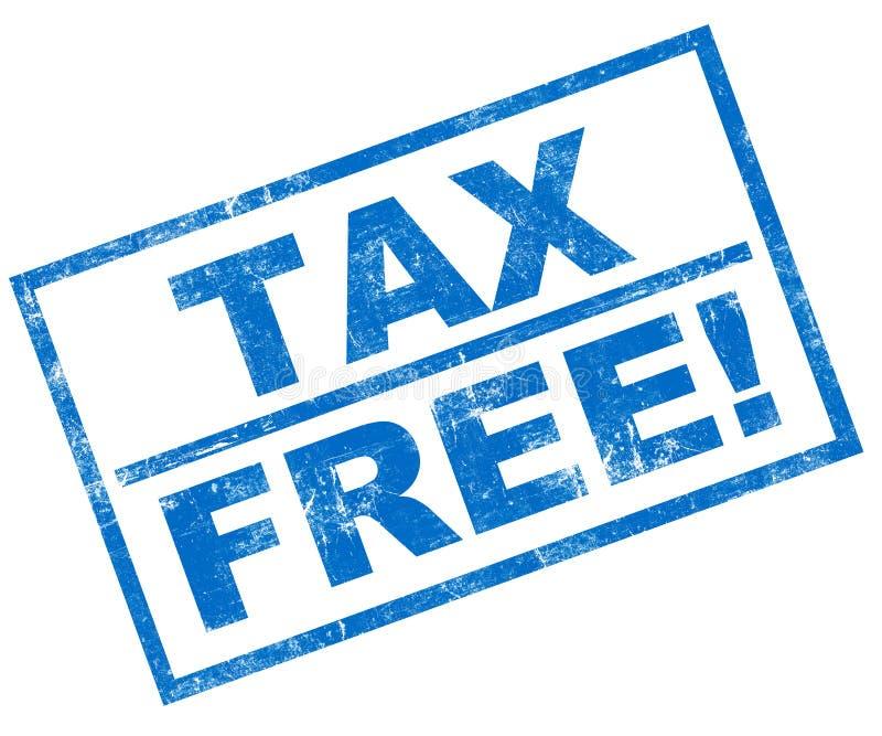 Exempt d'impôt illustration stock