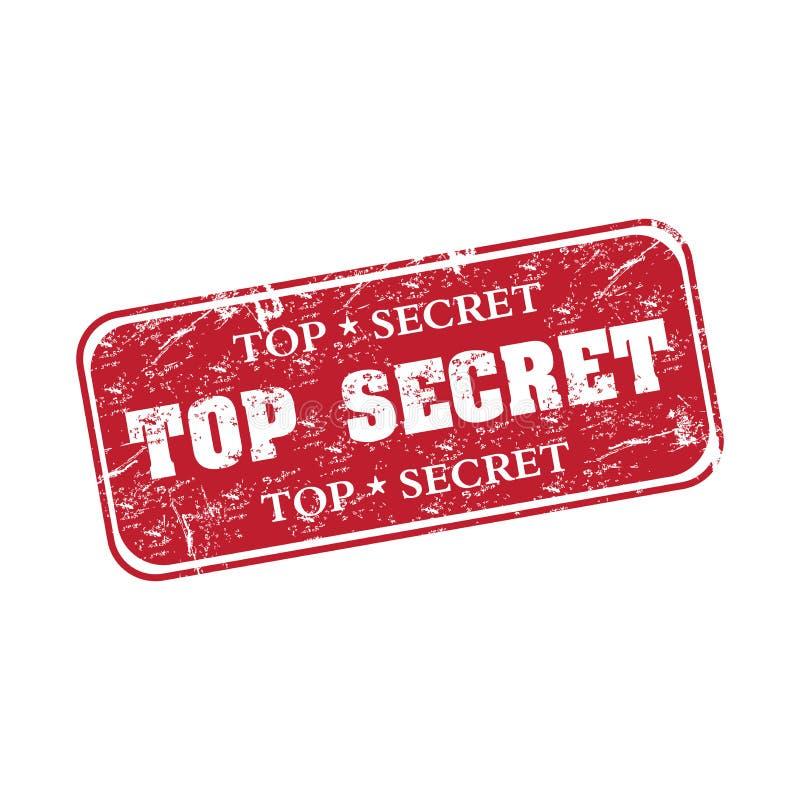 Tampon en caoutchouc extrêmement secret illustration de vecteur