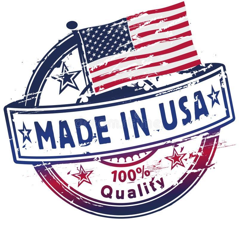 Tampon en caoutchouc fabriqué aux Etats-Unis illustration libre de droits