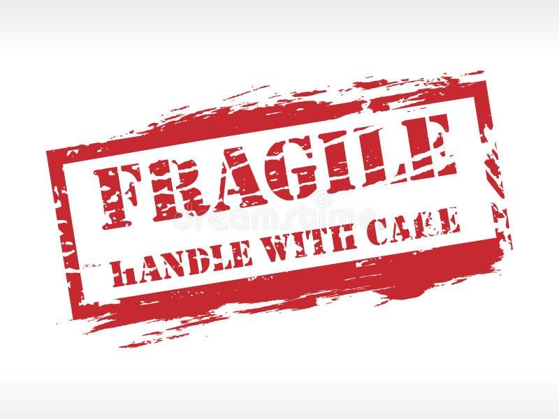 Tampon en caoutchouc fragile d'estampille illustration libre de droits