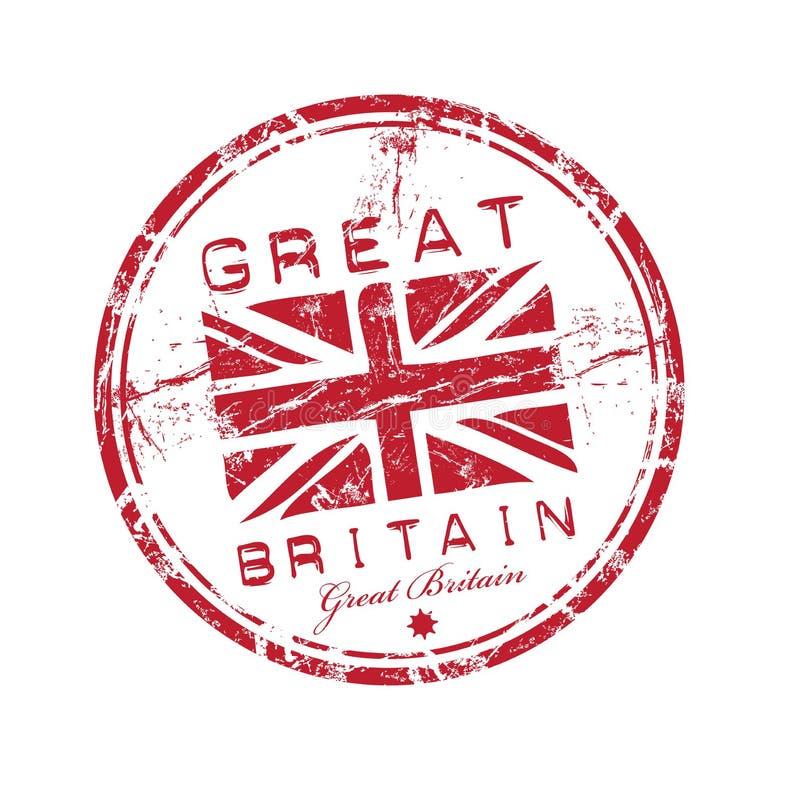 tampon en caoutchouc grand de la Grande-Bretagne illustration de vecteur