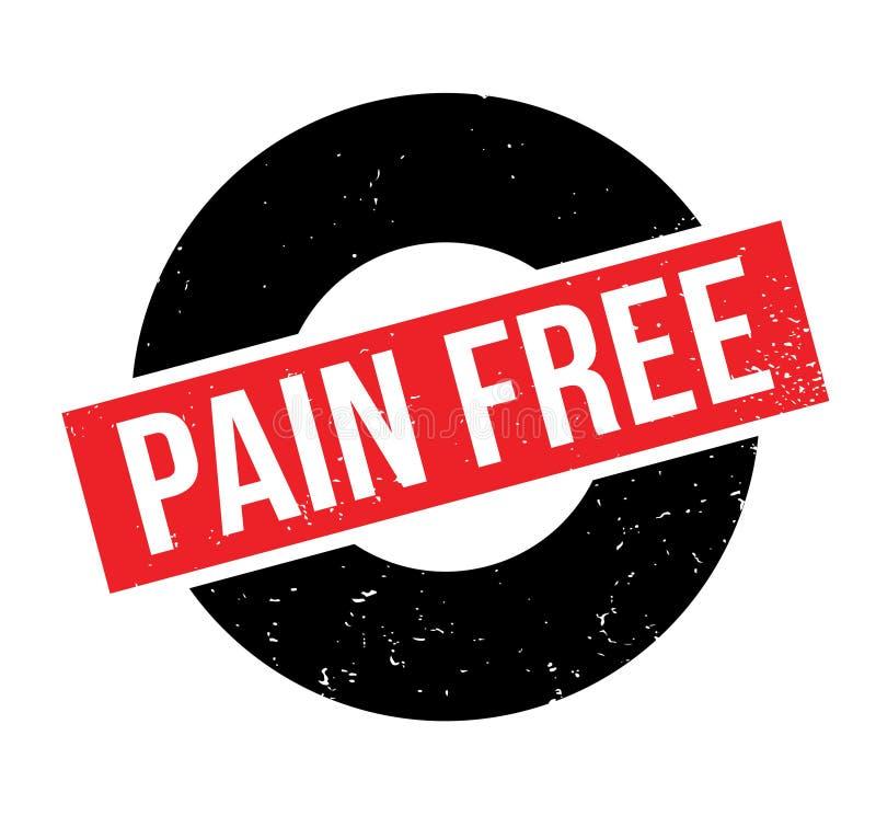 Tampon en caoutchouc gratuit de douleur illustration de vecteur
