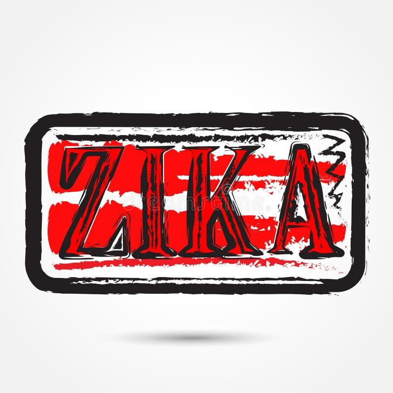 Tampon en caoutchouc grunge de virus de Zika sur le fond blanc illustration stock