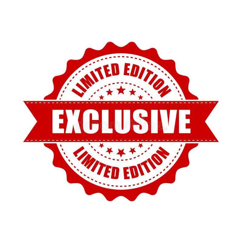 Tampon en caoutchouc grunge exclusif Illustration de vecteur sur le dos de blanc illustration stock