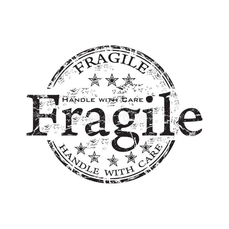 Tampon en caoutchouc grunge fragile illustration stock
