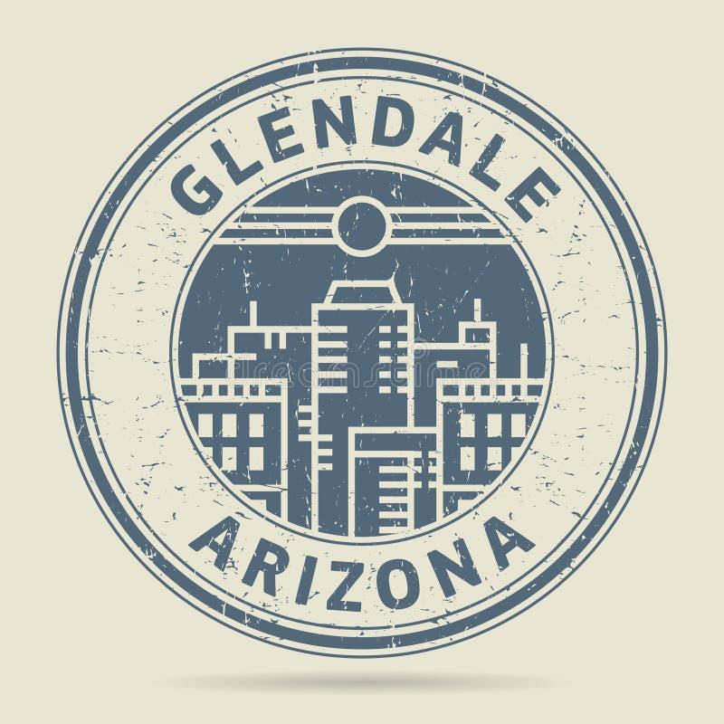 Tampon en caoutchouc grunge ou label avec le texte Glendale, Arizona illustration de vecteur