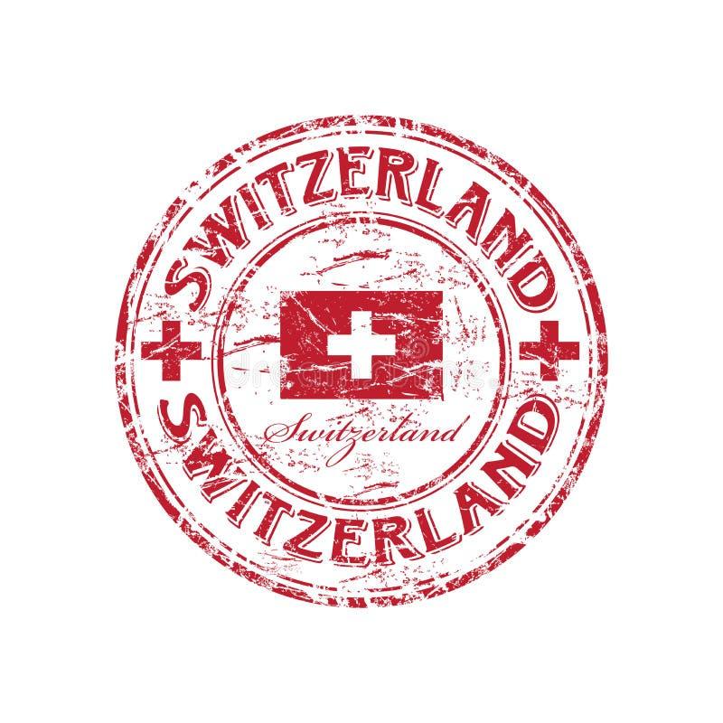 tampon en caoutchouc grunge Suisse illustration libre de droits