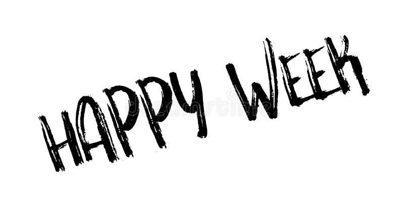 Tampon en caoutchouc heureux de semaine illustration stock