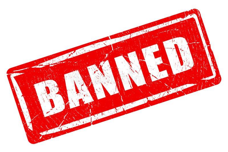 Tampon en caoutchouc interdit illustration stock