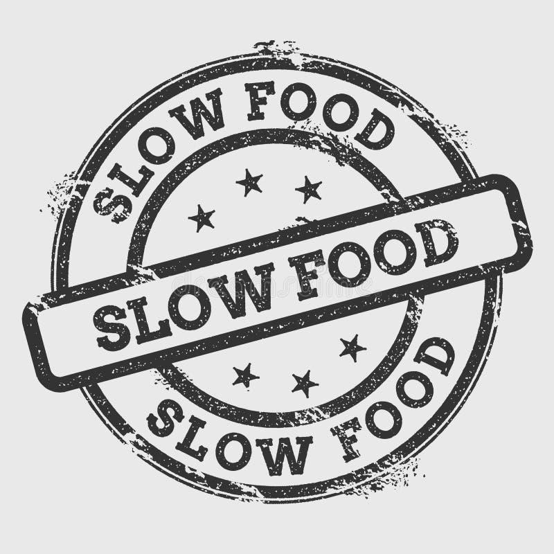 Tampon en caoutchouc lent de nourriture d'isolement sur le blanc illustration stock