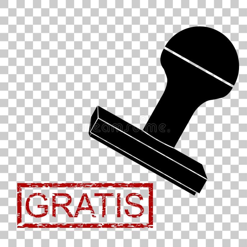 Tampon en caoutchouc - libérez gratuitement dans la langue de l'Indonésie illustration libre de droits