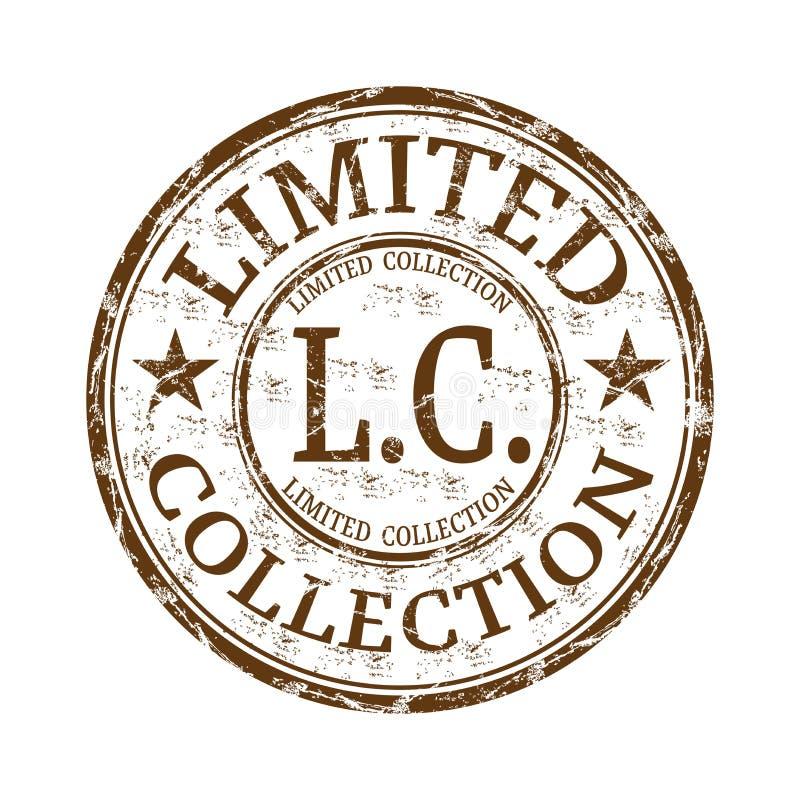 Tampon en caoutchouc limité de grunge de collection illustration libre de droits