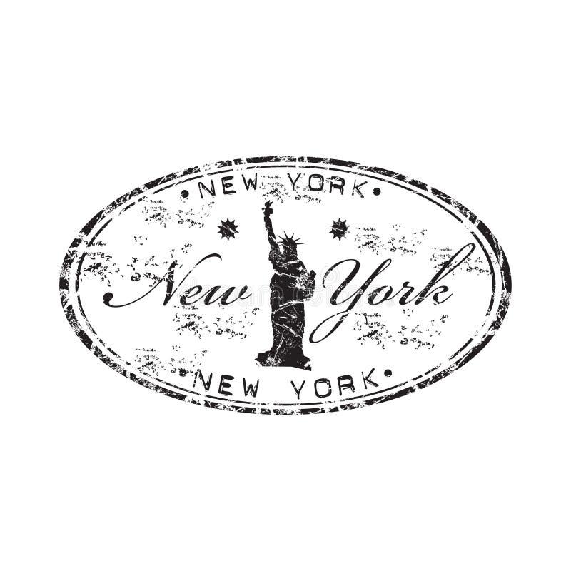 tampon en caoutchouc neuf York illustration stock
