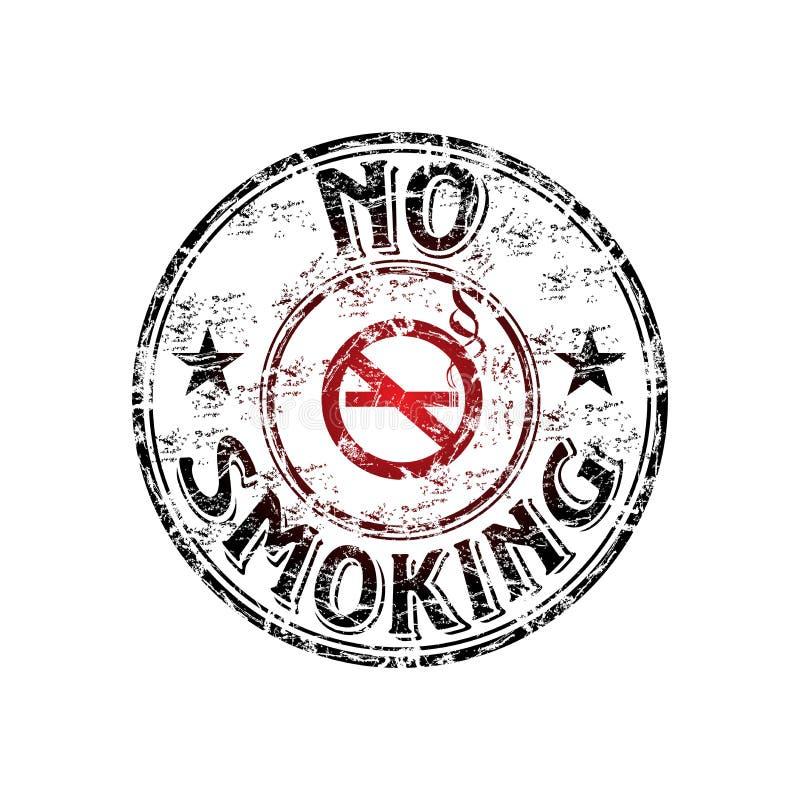 Tampon en caoutchouc non-fumeurs illustration stock