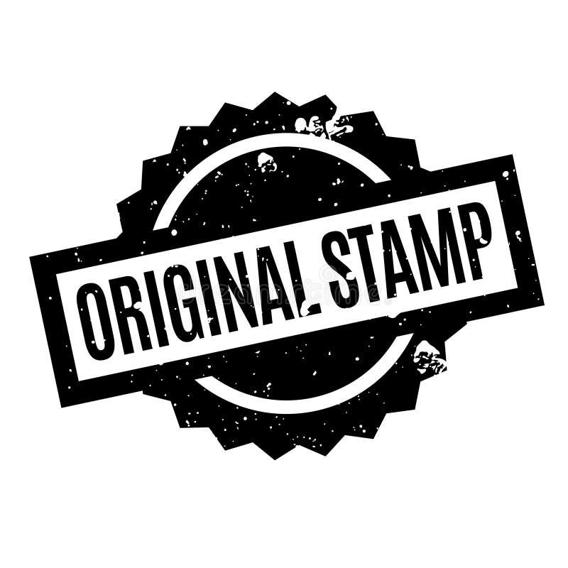 Tampon en caoutchouc original de timbre illustration stock