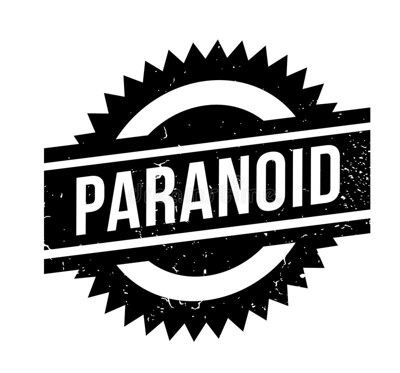 Tampon en caoutchouc paranoïde illustration stock