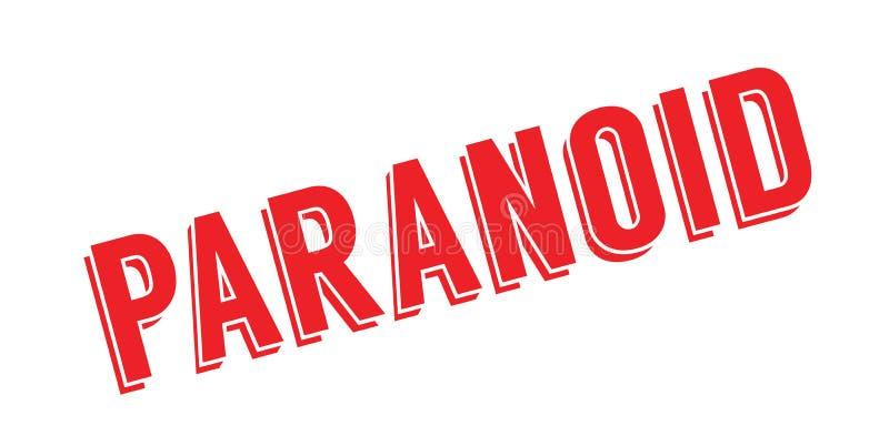 Tampon en caoutchouc paranoïde illustration libre de droits