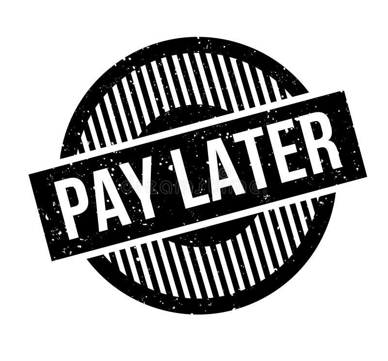 Tampon en caoutchouc postérieur de salaire illustration libre de droits