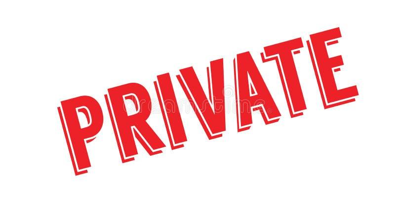 Tampon en caoutchouc privé illustration libre de droits
