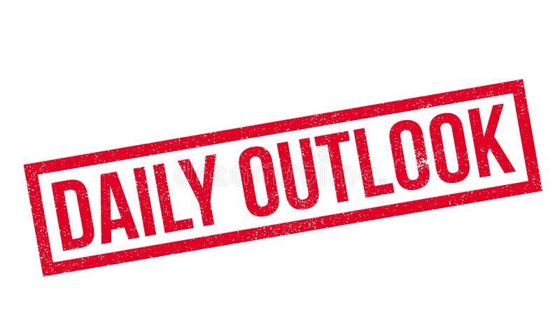 Tampon en caoutchouc quotidien d'Outlook illustration de vecteur