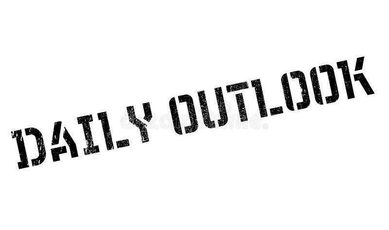 Tampon en caoutchouc quotidien d'Outlook illustration libre de droits