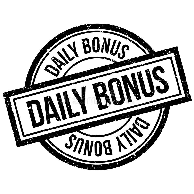 Tampon en caoutchouc quotidien de bonification illustration stock
