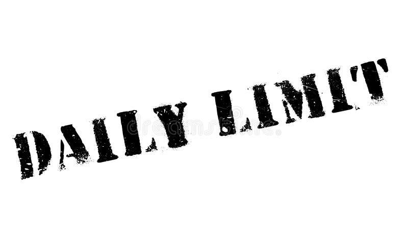 Tampon en caoutchouc quotidien de limite illustration libre de droits