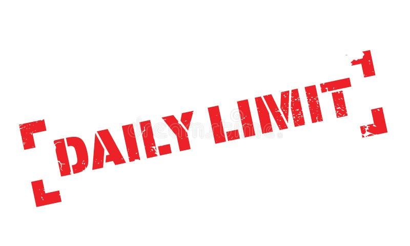 Tampon en caoutchouc quotidien de limite illustration stock