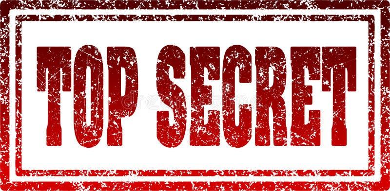 Tampon en caoutchouc rectangulaire rouge extrêmement secret illustration de vecteur