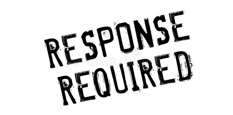 Tampon en caoutchouc requis par réponse image libre de droits