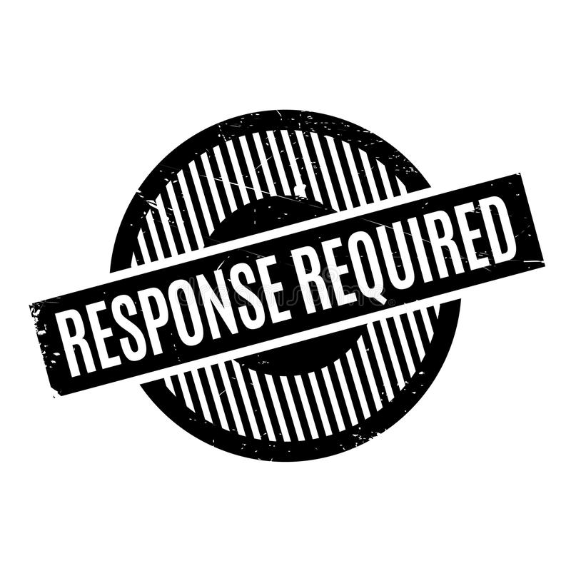 Tampon en caoutchouc requis par réponse photos libres de droits