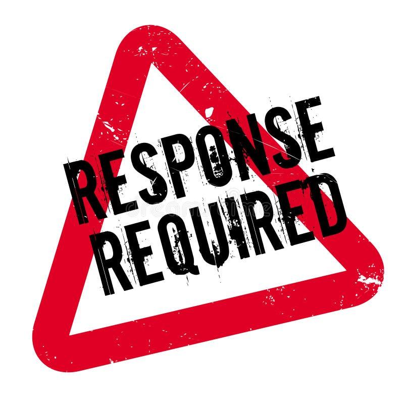 Tampon en caoutchouc requis par réponse images libres de droits