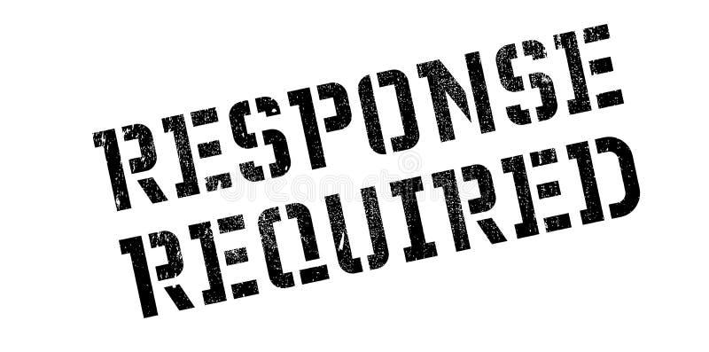 Tampon en caoutchouc requis par réponse images stock
