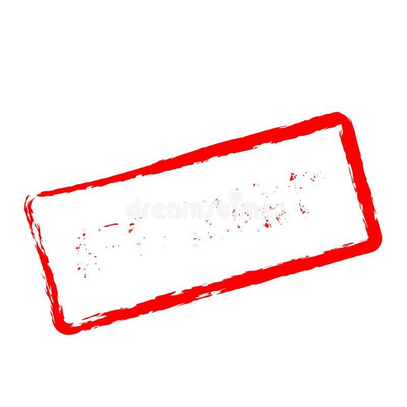 Tampon en caoutchouc rouge de demandeur sur le blanc illustration stock