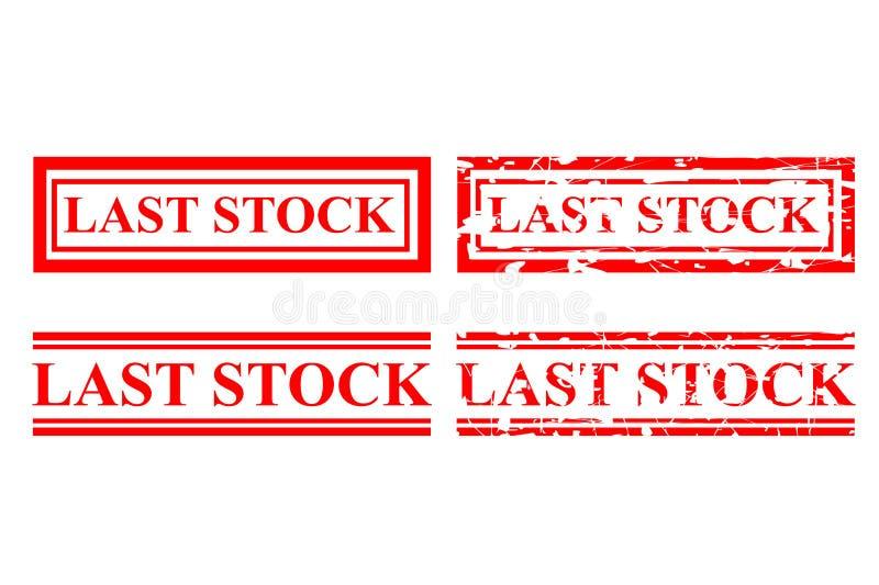 Tampon en caoutchouc rouge de quatre styles, dernières actions illustration libre de droits