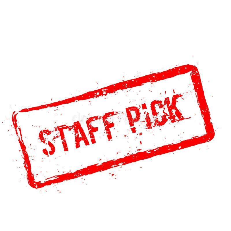 Tampon en caoutchouc rouge de sélection de personnel d'isolement sur le blanc illustration de vecteur